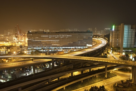 Traffic in highway of a modern city photo