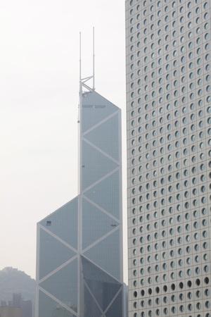 the central bank: Bank of China landmark in Hong Kong
