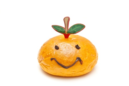 Smiley face bread, greet for Chinese New Year. photo