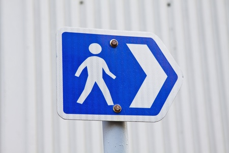 Road sign for pedestrian photo