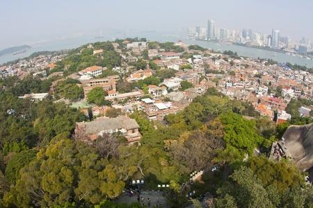 View from Gulangyu Island, Xiamen, China. photo