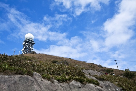 Weather station at top of Hong Kong, Tai Mo Shan. photo