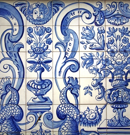 Artistic portuguese drawing background photo