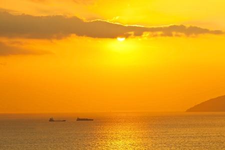 Sunset scene in Hong Kong Stock Photo - 12362416