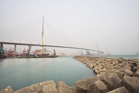 Hong Kong bridge at day Stock Photo - 12376882