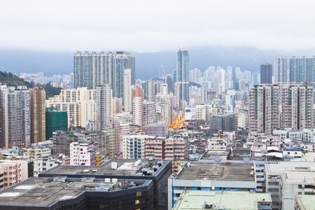 Hong Kong housing development Stock Photo - 12316279