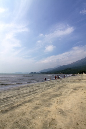 Beach in Hong Kong at day photo