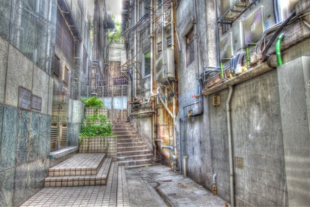 old town square: Alley in an old street, HDR image. Editorial