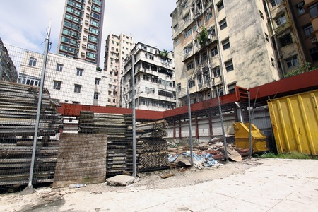 Construction site in Hong Kong photo