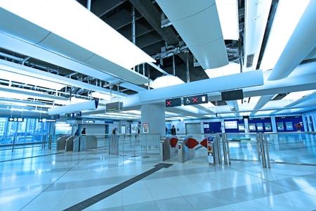 Entrance of train station in Hong Kong Stock Photo - 12689623