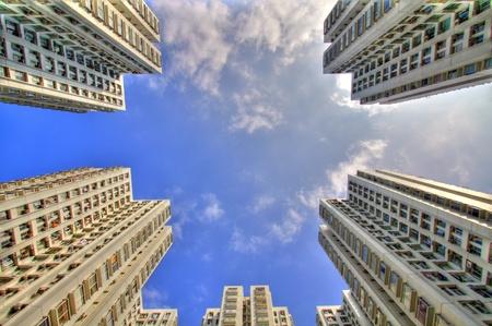 Hong Kong public housing in HDR Stock Photo - 12689566