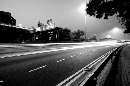 Traffic in modern city in black and white tone Stock Photo - 12685934