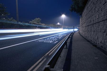 Modern city with night traffic Stock Photo - 12685543