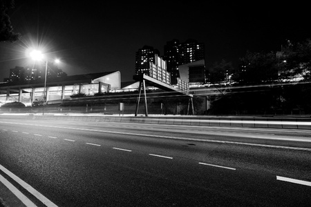 Traffic in modern city in black and white tone Stock Photo - 12685986