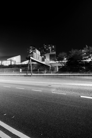 Traffic in modern city in black and white tone Stock Photo - 12685819