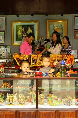 GUANGZHOU, APR 23, Children as shopkeepers in Guangzhou, China on 23 April, 2011.