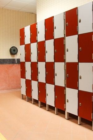 Lockers in toliet