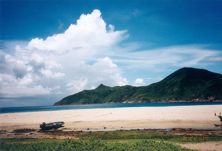 Hong Kong beach paradise in old day  photo
