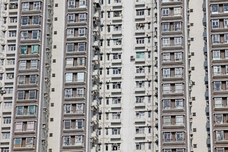 Packed Hong Kong housing apartments Stock Photo - 12717204