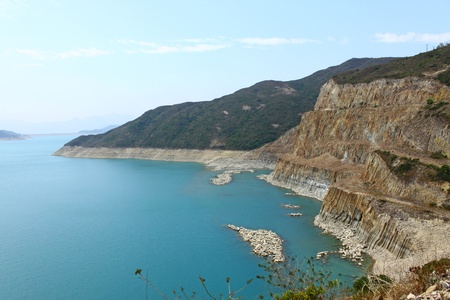 geologic: Hong Kong Geographical Park, the force of nature, folding and natural hexagonal column.