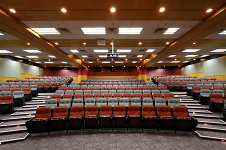 Lecture hall with colorful chairs in a university Stock Photo - 12717319