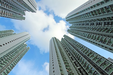 Packed Hong Kong public housing