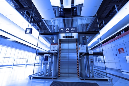 Elevator in train station