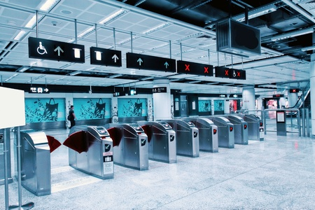 Entrance of a subway station