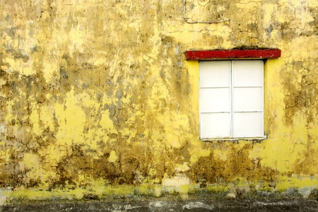 Vintage wall and window for background use photo