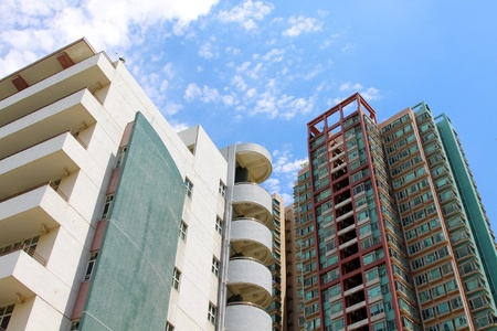 Hong Kong apartment blocks Stock Photo - 12716539