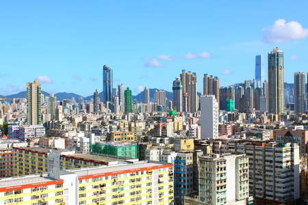 Hong Kong downtown at day time Stock Photo - 12717276