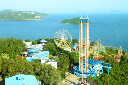 theme park: Amusement park rides in Hong Kong Editorial