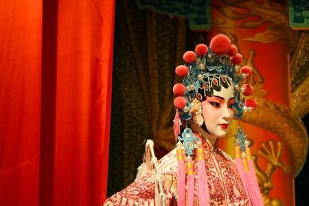 chinese opera: Cantonese opera dummy Editorial