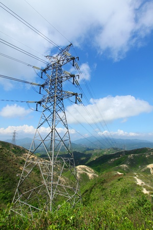 Power transmission tower with cables  Stock Photo - 12726116