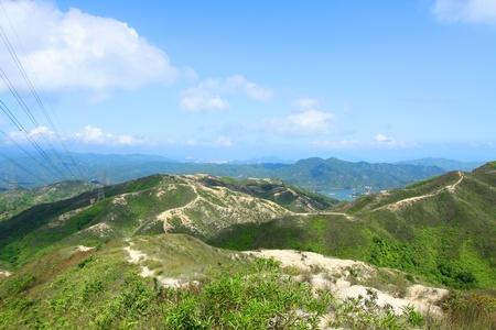 Mountain landscape in Hong Kong photo