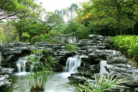 ponte giapponese: Giardino cinese Archivio Fotografico