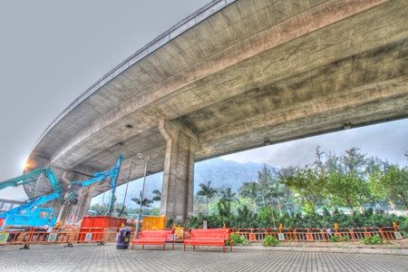Highway in Hong Kong, HDR image.