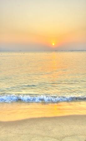 Sunset along the coast, HDR image. photo