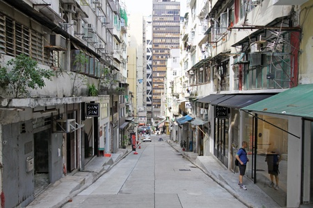HONG KONG - OCT 9, An old street with modern buildings in the front in Central, Hong Kong on 9 October, 2010.  Stock Photo - 12716795