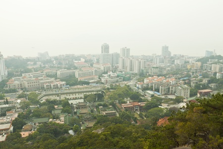 Aerial view of Xiamen city downtown, China. photo