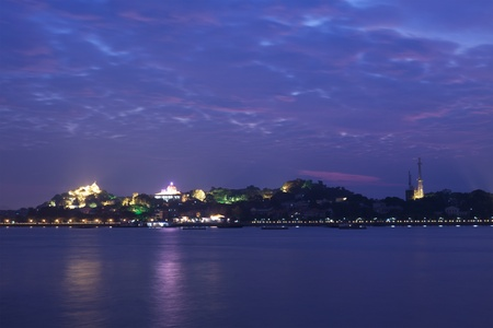 Xiamen Gulangyu Island at sunset in China photo