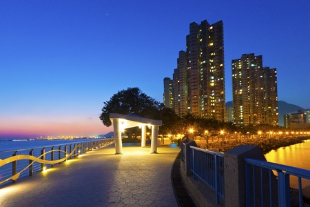 Sunset coast in Hong Kong