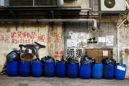 HONG KONG - MAY 13, A dirty street in Hong Kong on 13 May, 2009.  Stock Photo - 12935863