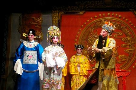 HONG KONG - MAY 21, A Cantonese opera is showing during Cheung Chau Bun Festival at Cheung Chau, Hong Kong on 21 May, 2010.