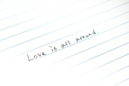 Love concept on paper Stock Photo - 12969235
