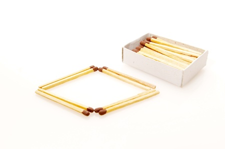Matches isolated on white background photo