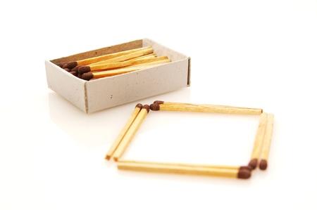 Matches isolated on white background Stock Photo - 12969275