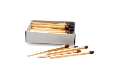 Matches isolated on white background Stock Photo - 12969213