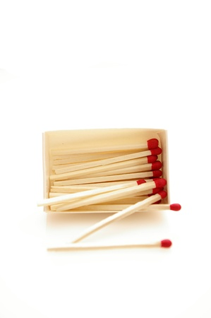 Matches isolated on white background photo