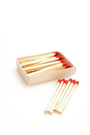 Matches isolated on white background Stock Photo - 12969149